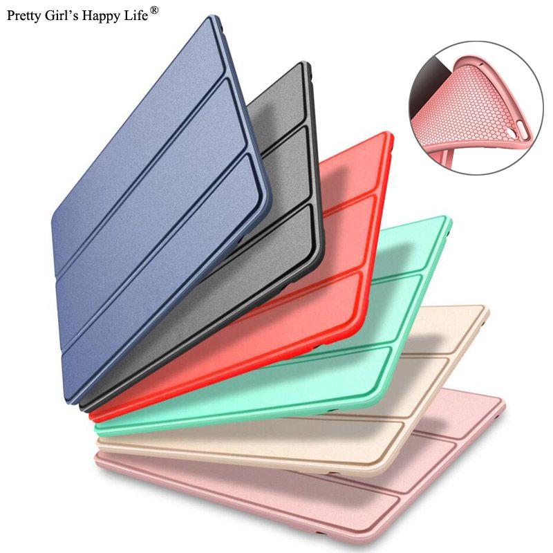 Für iPad Air A1474 Silizium Fall A1475 A1476 Abdeckung Für iPad Luft 1 Smart Wake Schlaf PU Leder Capa Fundas für iPad Air 1 Coque