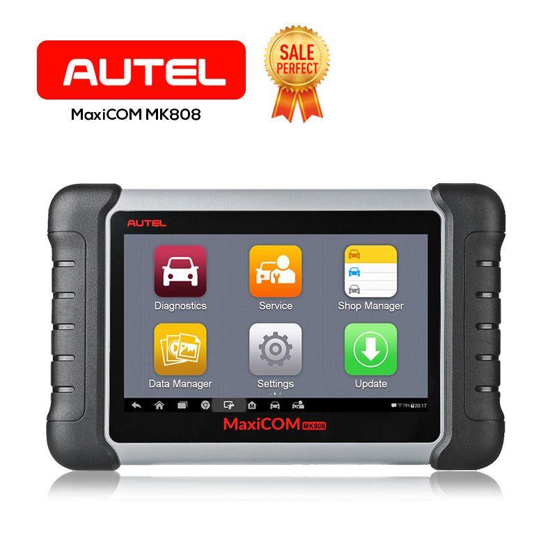 Autel OBD2 Scanner MaxiCOM MK808 Automotive Diagnostic Tool Supports Full System IMMO/EPB/SAS/BMS/TPMS/DPF(MD802+MaxiCheck Pro)