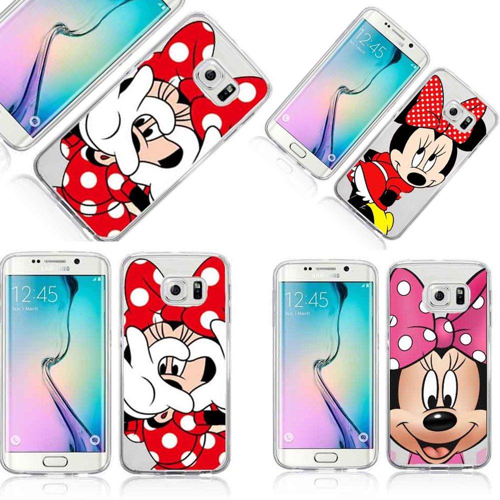Drôle de Bande Dessinée Minnie Mickey Mouse Couverture de Cas Pour Samsung A3 A5 A7 A8 Note 7 5 4 J1 J5 J7 S3 S3mini S4 S5 S6 Bord Plus S7 bord