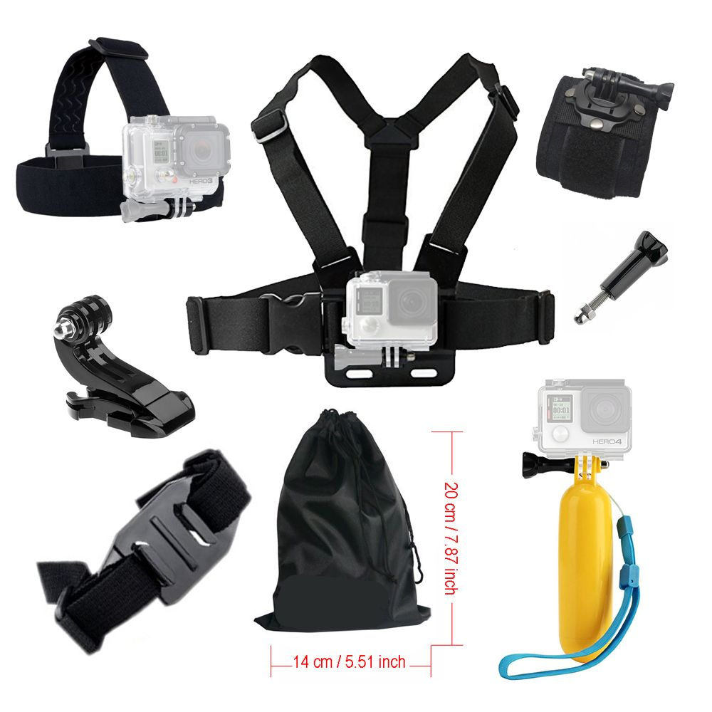 Accessories kit For Gopro hero 5 Action camera Chest Head Strap for Go pro SJCAM for Yi 4K Floating Monopod Bobber Mount