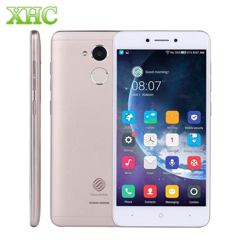 China Mobile A3S M653 RAM 2GB ROM 16GB Mobile Phones Fingerprint 5.2 inch 8MP Android 7.1 Quad Core Dual SIM 4G LTE Smartphones
