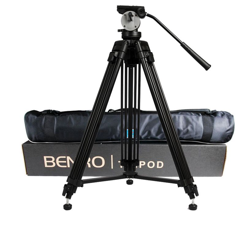 wholesale DHL Pro BENRO KH25N KH-25N Video Camera Tripod Professional Hydraulic Head Magnesium Alloy Tripod+Video Tripods Bag
