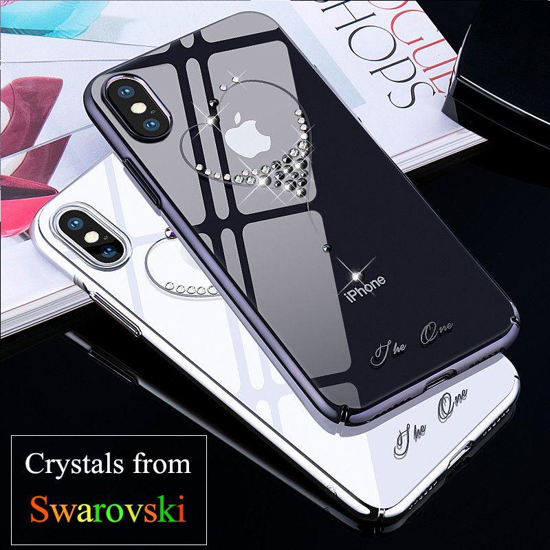KINGXBAR for iPhone X / 10 Case Crystals From Swarovski PC Hard Crystal Diamond Rhinestone Case for iPhone X Cover Coque Funda