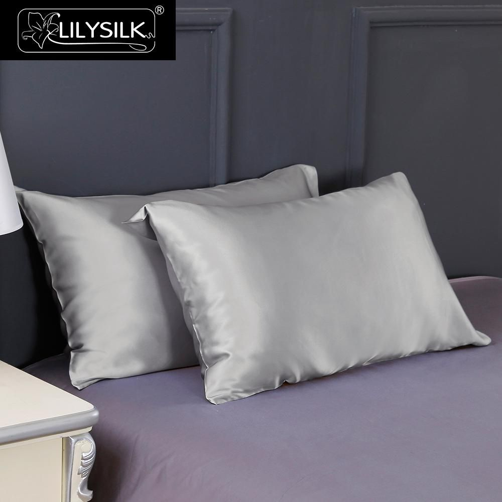 Lilysilk Terse Silk Pillowcase 100% Pure Mulberry Silk Soft 19 Momme Silk Pillow Case 1 piece