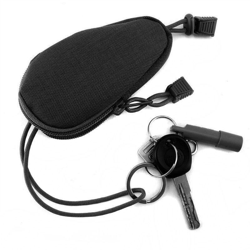 OneTigris Mini sac de transport extérieur EDC porte-monnaie Portable porte-monnaie porte-monnaie de voyage avec porte-clés intérieur en acier inoxydable