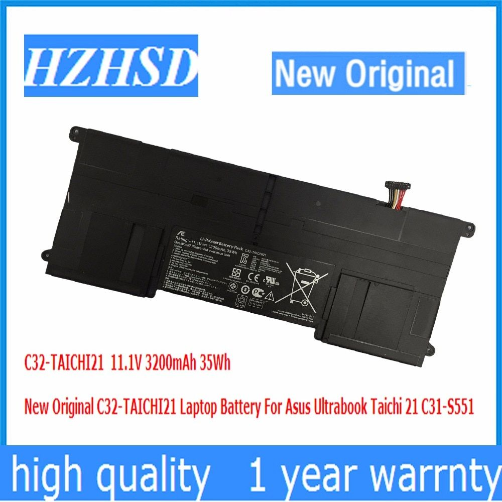 11.1V 3200mAh 35Wh New Original C32-TAICHI21 Laptop Battery For Asus Ultrabook Taichi 21 C31-S551