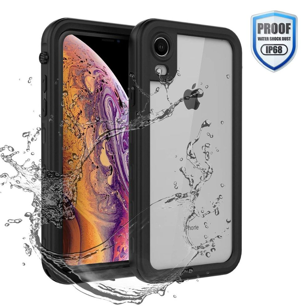Waterproof Case for iPhone XR X XS Max 6 6S 7 8 Plus 360 Full-Body Rugged Clear Back Case Cover with Screen Protector Film