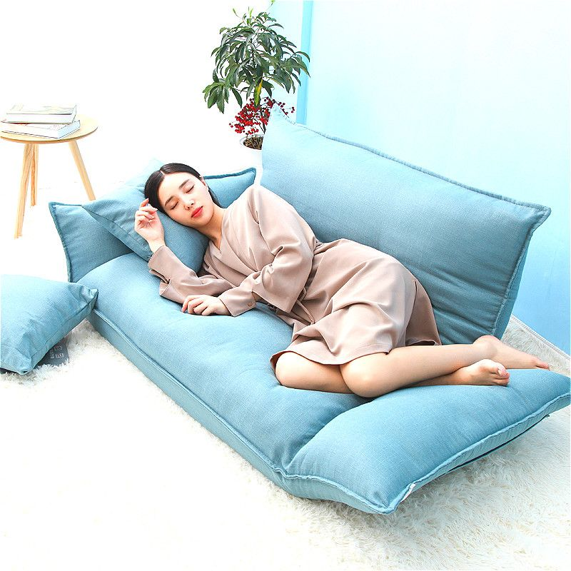 YN50 Cotton fabric Floor mini Sofa Bed 5 Position Adjustable Double Sofa Furniture Living Room Folding Sofa Computer chair