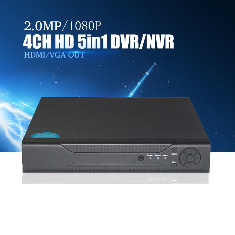 YiiSPO 4CH/8CH 16CH 1080N TVI CVI AHD 5 In1 Hybrid DVR/1080P NVR Video Recorder AHD DVR For AHD/Analog Camera IP Camera