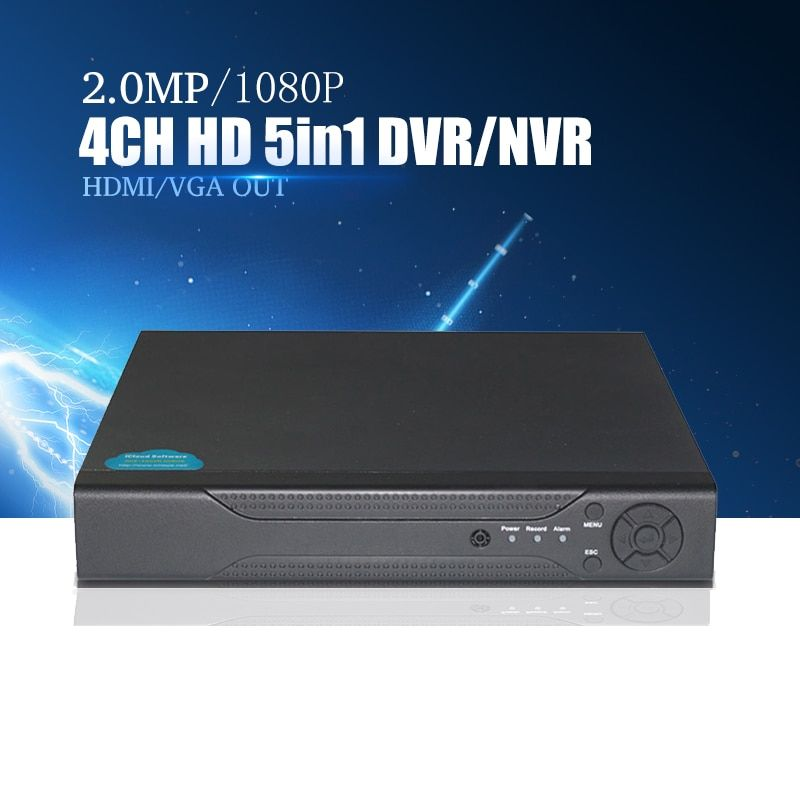 YiiSPO 4CH/8CH 16CH 1080N TVI CVI AHD-NH 5 In1 Hybrid DVR/1080P NVR Video Recorder AHD DVR For AHD/Analog Camera IP Camera