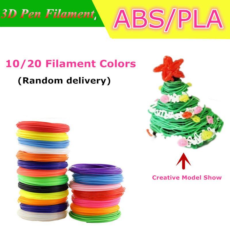 Haute Qualité 1.75mm ABS/PLA Filament Pour 3D Impression Stylo 3d Matériaux d'impression Pour 3 D Imprimante Pas Plug 3d Filament Livraison gratuite