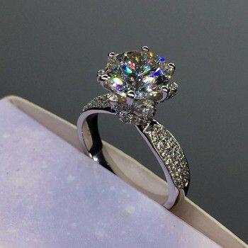 Choucong модные Юбилей цветок кольцо 3ct Diamonique CZ розовое золото 925 серебро Обручение обручальное Кольца для женщин