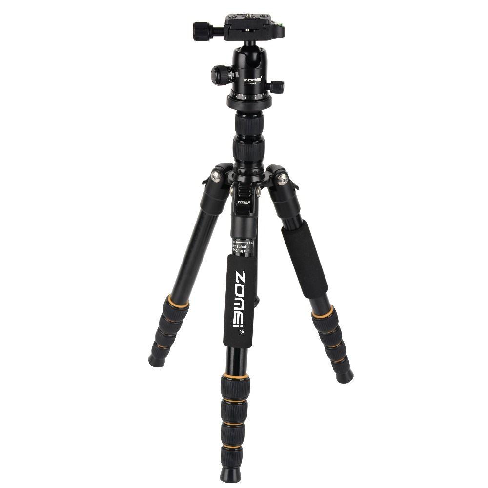 Zomei Q666 professionnel en alliage de magnésium appareil photo numérique voyage trépied monopode pour appareil photo reflex numérique DSLR