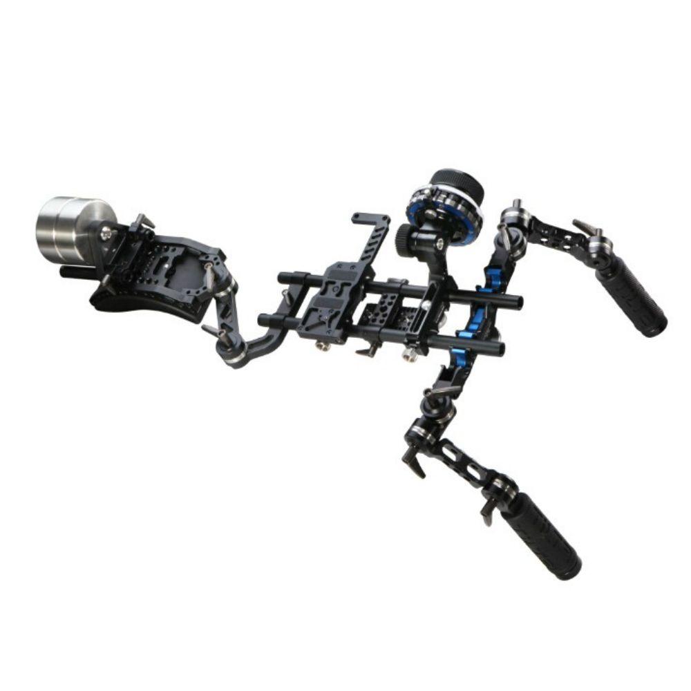 TILTA 15mm DSLR Folgen Fokus Rig System Offset Schulter Rig w/2 kg Zähler Gewicht Vorne handgriff für canon DSLR HDV