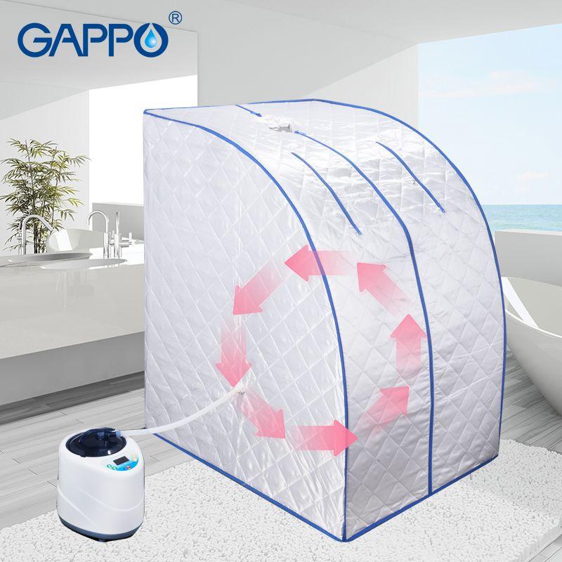 GAPPO Dampf Sauna tragbare dampfbad dampf hause sauna infrarot sauna box SPA mit dampf generator kapazität 2L Gewicht verlust