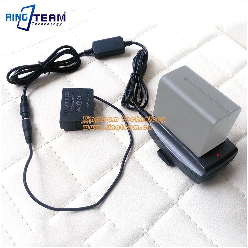 Внешний Питание dmw-dcc8 с F970 адаптер для Panasonic dmc-fz1000 FZ200 fz300 g7 G6 G5 GH2 gh2k gh2s g80 G85 gx8 камера