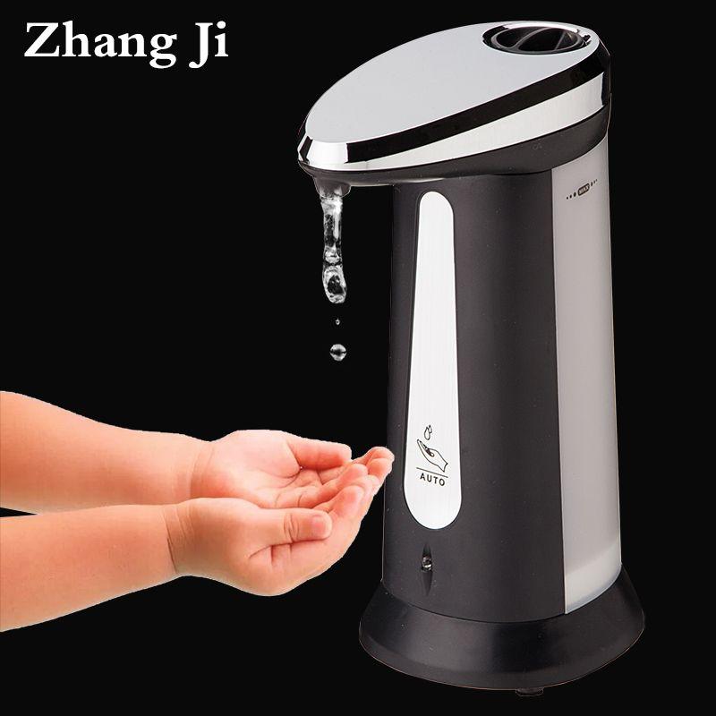 400 мл ABS гальваническим автоматические дозаторы жидкого мыла для кухни и ванной Smart Sensor бесконтактная дезинфицирующее dispensador ZJ118
