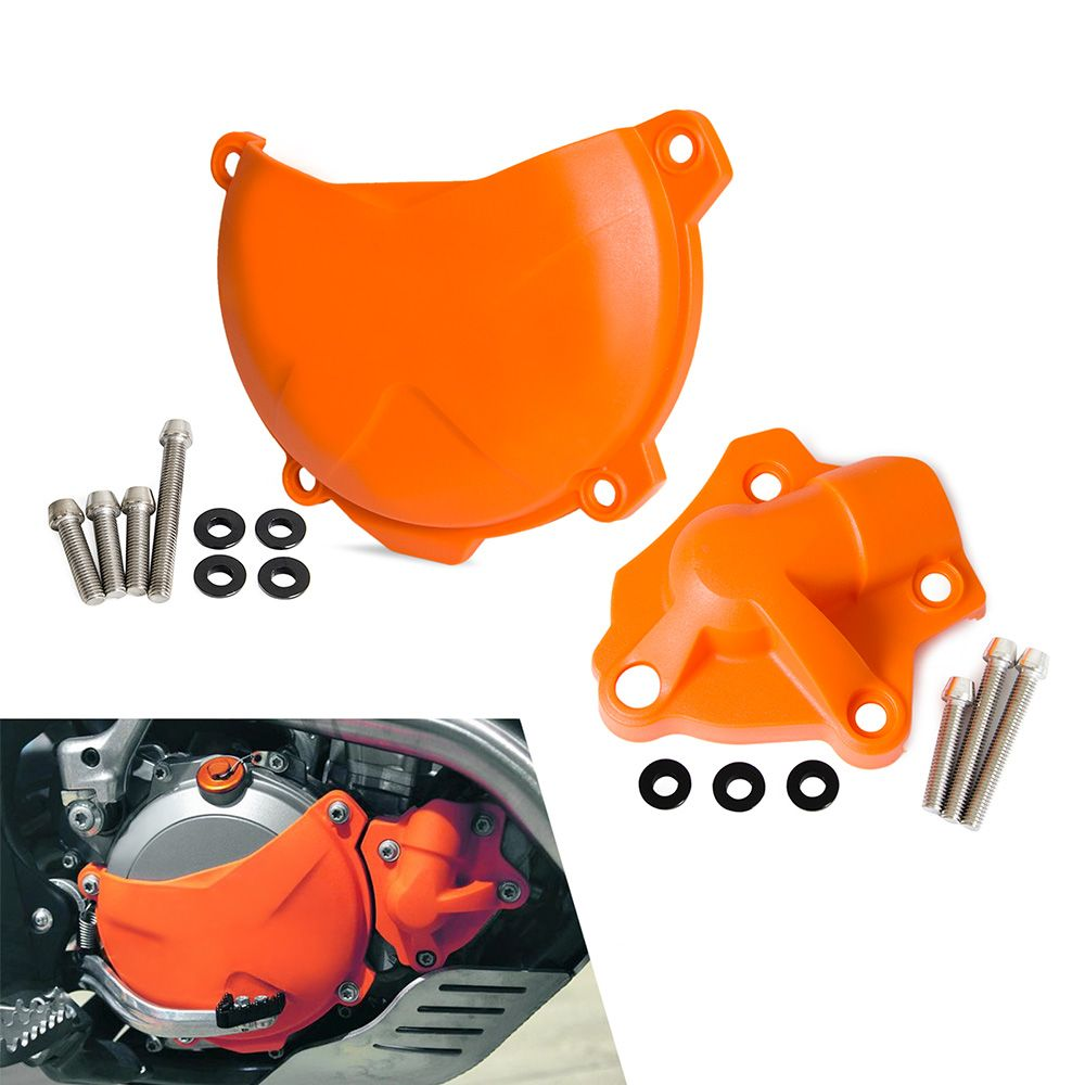 Motorcycle Clutch Cover Protection Cover Water Pump Cover Protector Fit For KTM 250 350 SXF EXCF XC-F XCF-W 2013 2014 2015 2016
