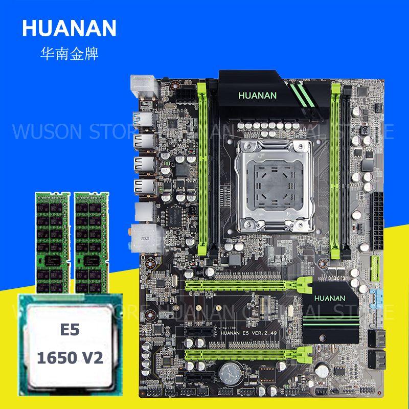 Computer hardware liefern HUANAN ZHI X79 motherboard mit M.2 slot CPU Intel Xeon E5 1650 V2 3,5 GHz speicher 16G (2*8G) 1600 REG ECC