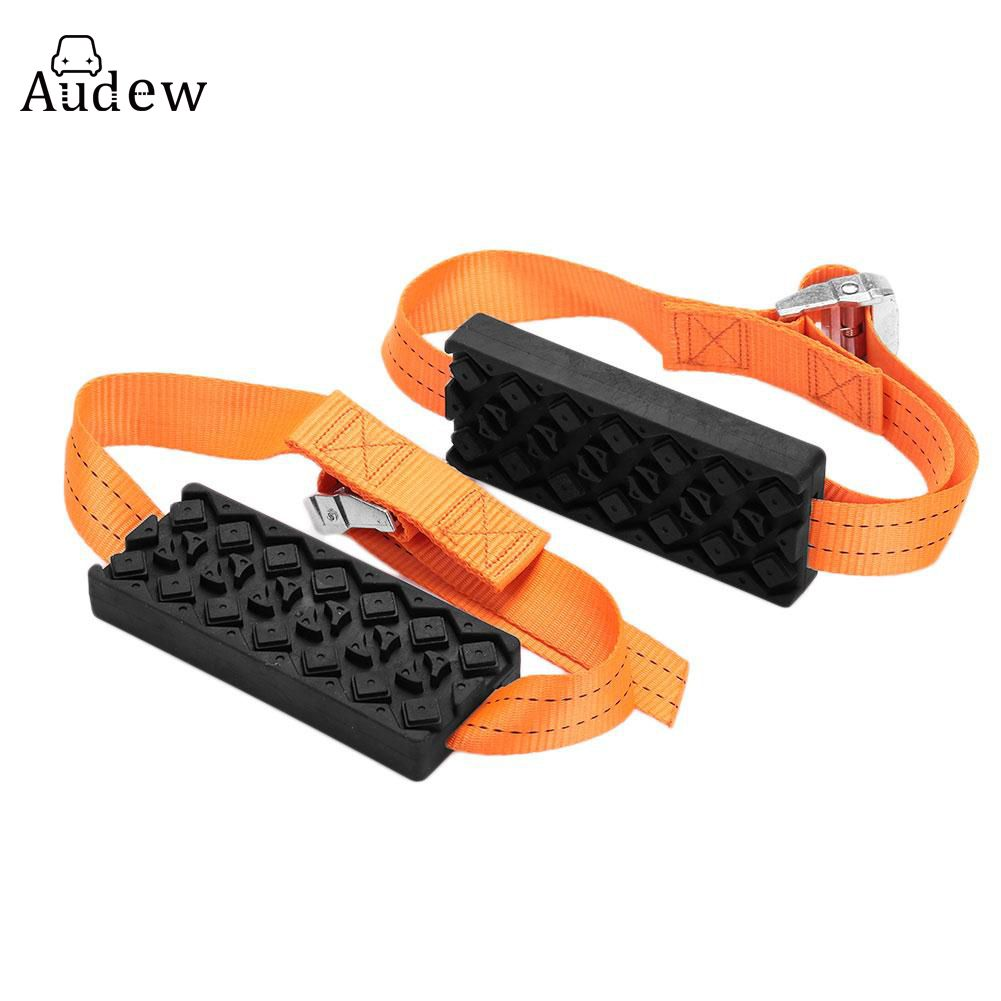 2PCS Car Tyres Tire Belt Snow Chains Universal Mini Plastic Winter Wheels Car-Styling Anti-Skid Autocross Outdoor Roadway Safety
