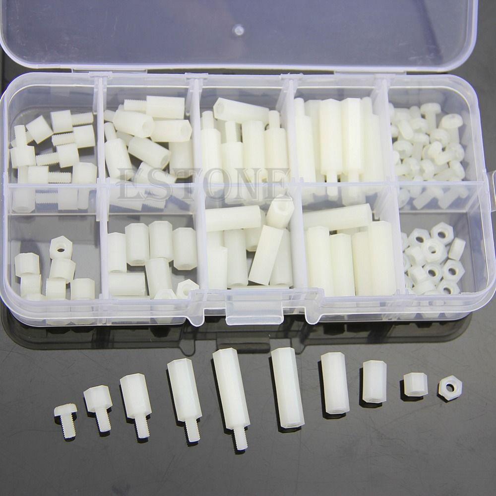 F85 M3 Nylon Hex Spacer Schraube Mutter Sortiment Kit Ertragen off Kunststoff Zubehör Set