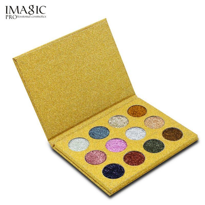 1 unids profesional 12 color cosmética sombra Paletas Sombras de ojos brillante Arco Iris perla brillo diamante ojo cosméticos fácil tomar