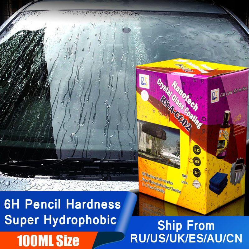 Étoile montante RS-A-CC02 Nanotech cristal verre revêtement 100ml Kit pour bricolage utilisateur 6H Nano hydrophobe verre liquide pour le nettoyage des vitres