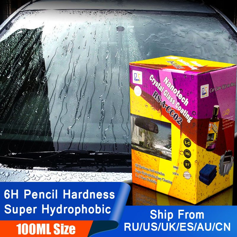 Rising Star RS-A-CC02 Nanotech Crystal Glass Coating 100ml Kit for DIY user 6H Nano hydrophobic Liquid Glass for Window Cleaning