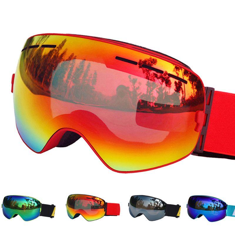 Лыжный Очки двойные линзы UV400 Анти-Туман Лыжные очки снег Лыжный спорт Сноуборд мотокросс очки лыжные Маски для век или очки