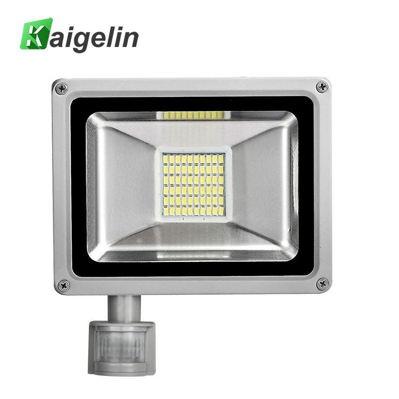 30W 220V-240V PIR Infrared Motion Sensor LED <font><b>Flood</b></font> Light 3300LM PIR Motion Sensor LED Floodlight LED Lamp For Outdoor Lighting