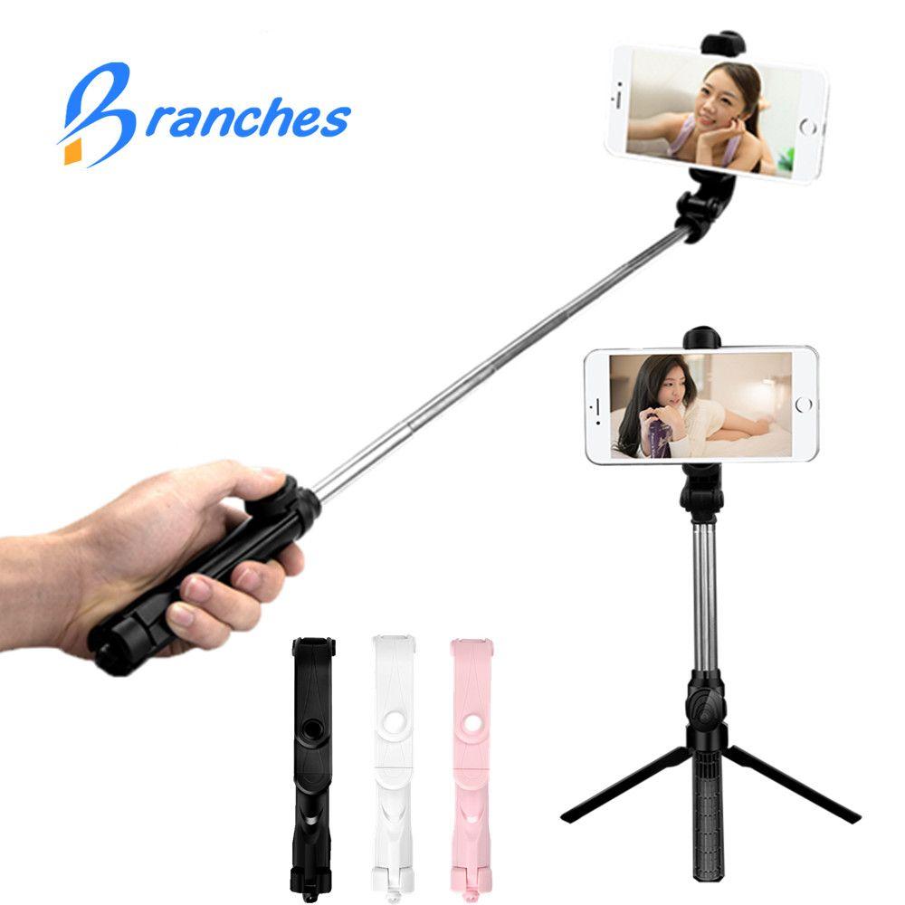 BE80 Mini Bluetooth pau de Selfie Stick+Tripod Monopod stick self bluetooth selfiestick for iphone xiaomi mi Android 7 8 phone