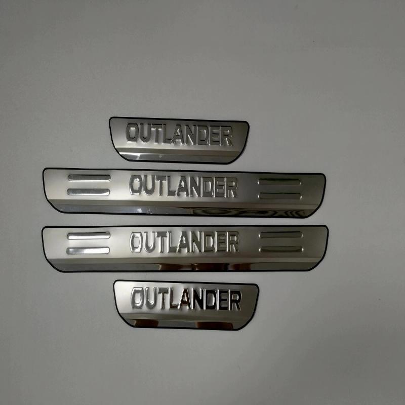 Autocollant de style de voiture pour Mitsubishi outlander accessoires 2013 en acier inoxydable seuil de porte seuil protecteur de plaque protecteur 2016