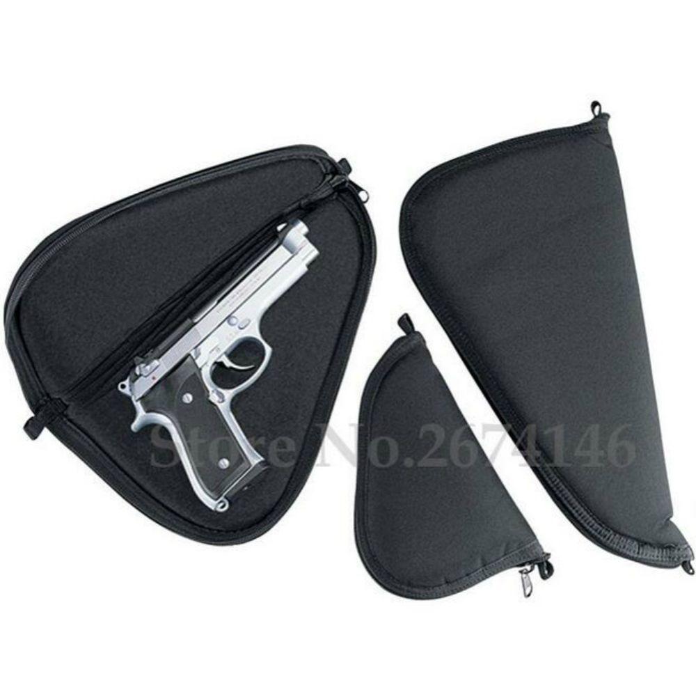 2 tamaño portátil negro revólver airsoft pistola Tapetes esponja liningsoft pistola cremallera de almacenamiento se adapta a subcompacto para pistolas