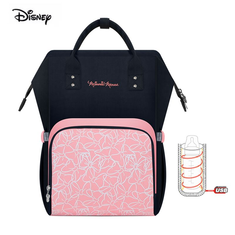 Disney mickey mouse waterproof large capacity mother bag for nappies babies milk thermal insulation maternity diaper backpack