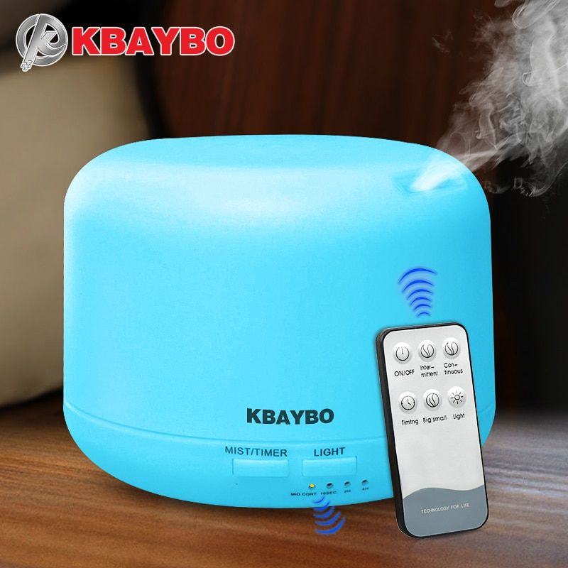 Remote <font><b>Control</b></font> 300ML Ultrasonic Air Aroma Humidifier With 7 Color Lights Electric Aromatherapy Essential Oil Aroma Diffuser