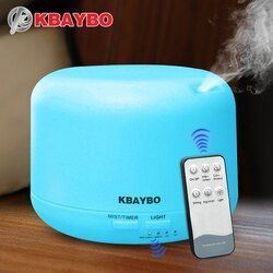 Télécommande 300 ml D'air Ultrasonique Aroma Humidificateur Avec 7 Couleur Lumières Électrique Aromathérapie Huile Essentielle Aroma Diffuseur