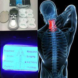4 Elektroda Health Care Akupunktur Puluhan Listrik Terapi Massageador Mesin Pulse Pelangsing Tubuh Pematung Massager Alat