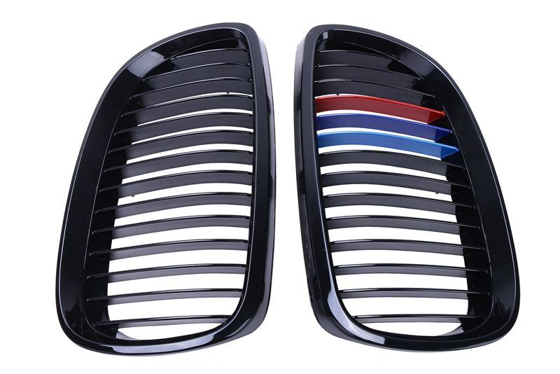 M Color Gloss Black Grill Front Kidney Grille For BMW E92 Coupe E93 Convertible M3 328i 335i 2 Door 2007-2010 #9212