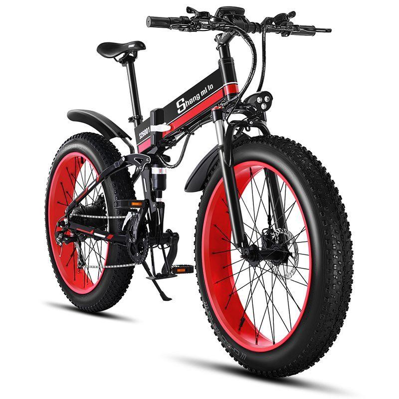 Elektrische bike 26 zoll ebike 48V1000W elektrische mountainbike elektrische faltrad 4,0 fett reifen Elektrische Fahrrad strand E- bike