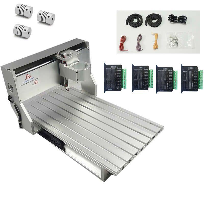 Holzbearbeitung maschinen CNC 6040 rahmen aluminium metall stecher