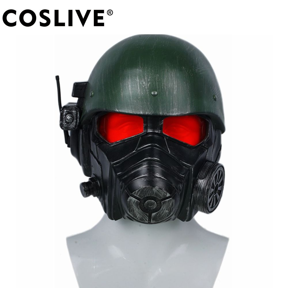 Coslive Veteran Ranger Helmet Fallout 4 Cosplay Mask Adult Costume Props For Halloween Carnival Party Costume Accessories