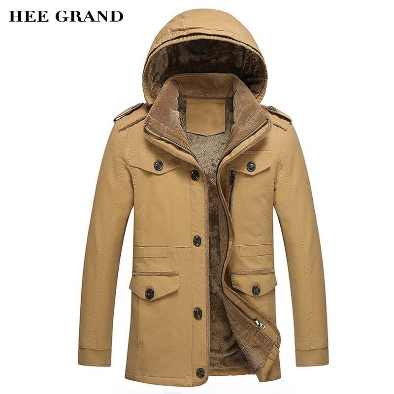 Men's Jacket 2018 New Arrival For Autumn And winter Thickening Of Cotton Fashion Overcoat Four Colors Plus Size M-6XL MWM1311