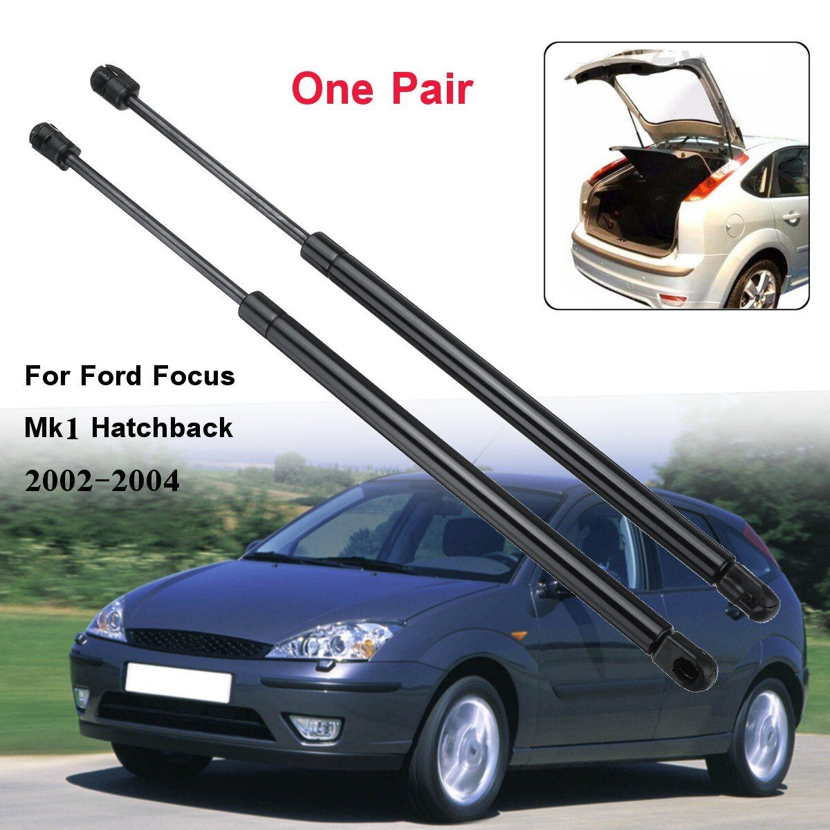 2Pcs 490mm Car Rear Tailgate Boot Gas Struts Support for Ford for Focus Mk1 Hatchback 1998-2004