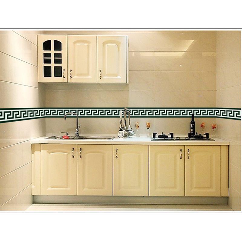 Nouveau 4.2 m salle de bain carrelage grand mur autocollant pour fenêtre en verre PVC cuisine taille ligne Mural adhésif papier peint vinyle autocollants frontière