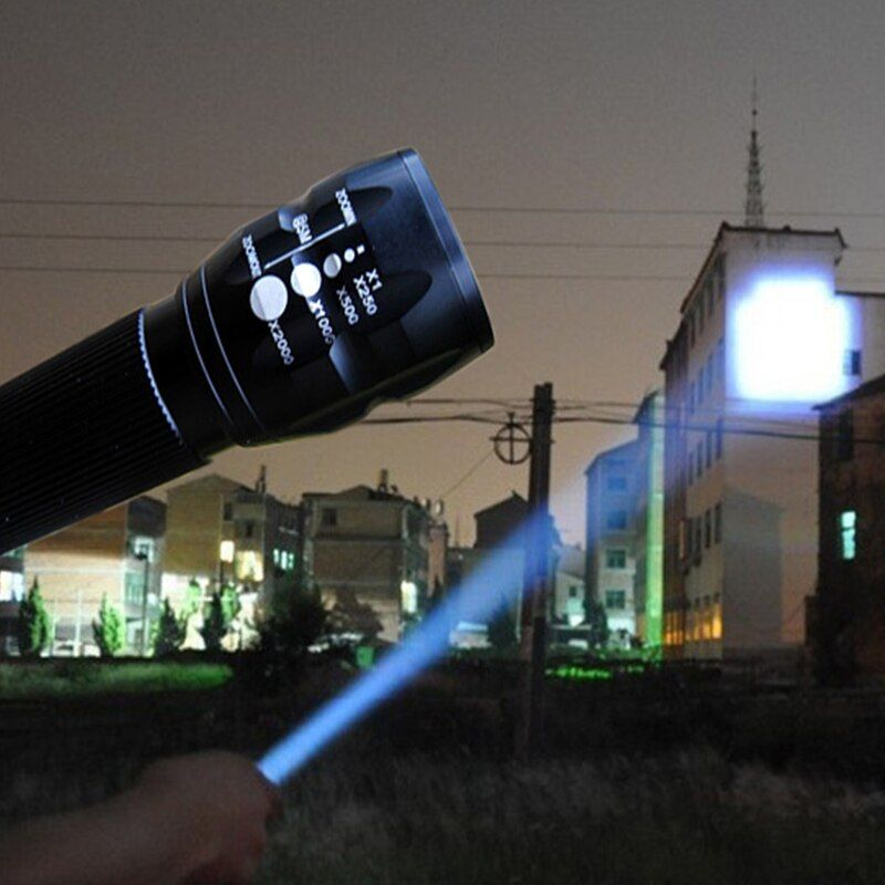 2018 NEW LED Flashlight Lanterna de led linternas Torch 2000 <font><b>lumen</b></font> Zoomable lamp mini flashlight led light lantern bike light