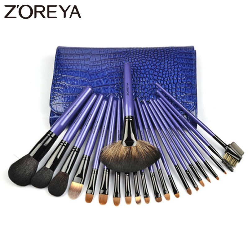 Zoreya Brand Top Quality 22pieces/set lady Make up brushes Kolinsky Hair Professional makeup Brushes set for women Cosmetic tool