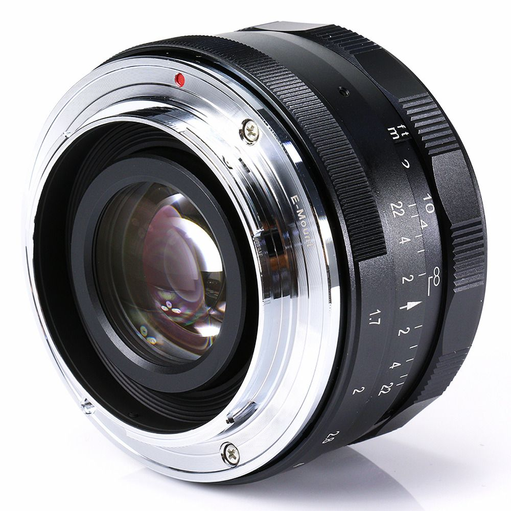 Large aperture 35mm F1.7 Manual Lens for Olympus EP3 EP5 EPL7 EPM2 OMD EM5 EM1 EM10 GX7 GX1 GH3 G6 GF6 GF7 GM2 M43 Camera black
