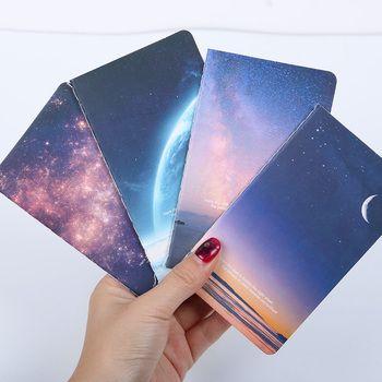 Мини милый новинка луна звезда вселенная тетрадь блокнот дневник писчая бумага меморандум школьные принадлежности