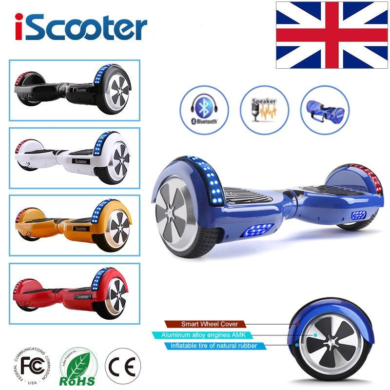iScooter Hoverboard 6.5 inch Bluetooth Speaker Scooter Skateboard Self balance electric Hoverboard Adult Kid UL 2272 Hoverboard