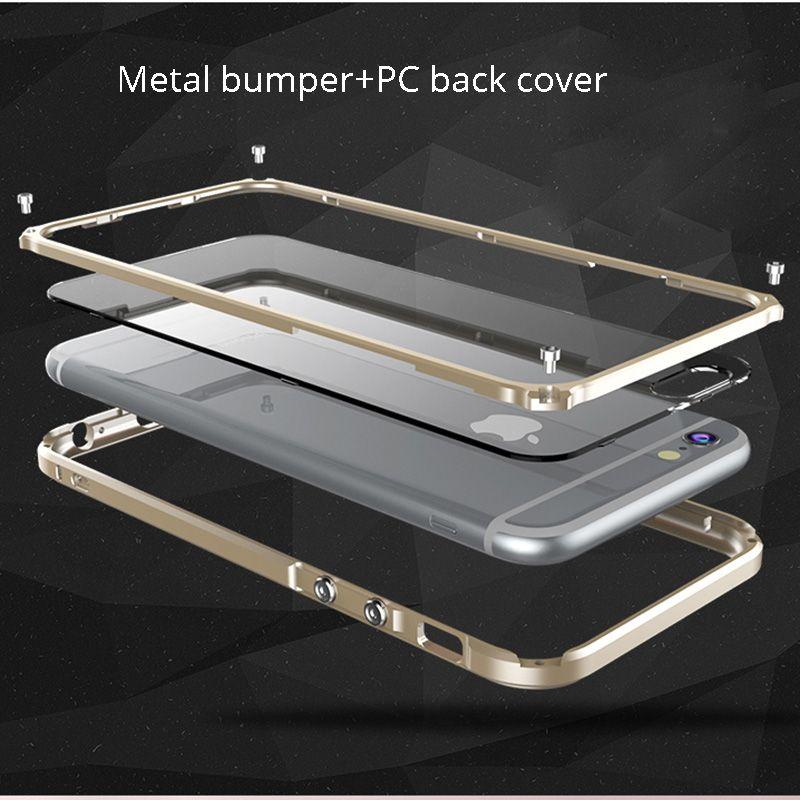 Cover For iphone 6 s plus Luxury Metal Bumper for apple iphone 6s plus 6plus Phone Cases Aluminum Frame accessories casing capa